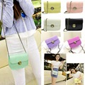 Women Ladies Candy Messenger Bag PU Leather Crossbody Shoulder Satchel Handbags