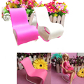 2017 1 Pcs Rocking Chair Accessories For Barbies Doll's House Decoration Pink White