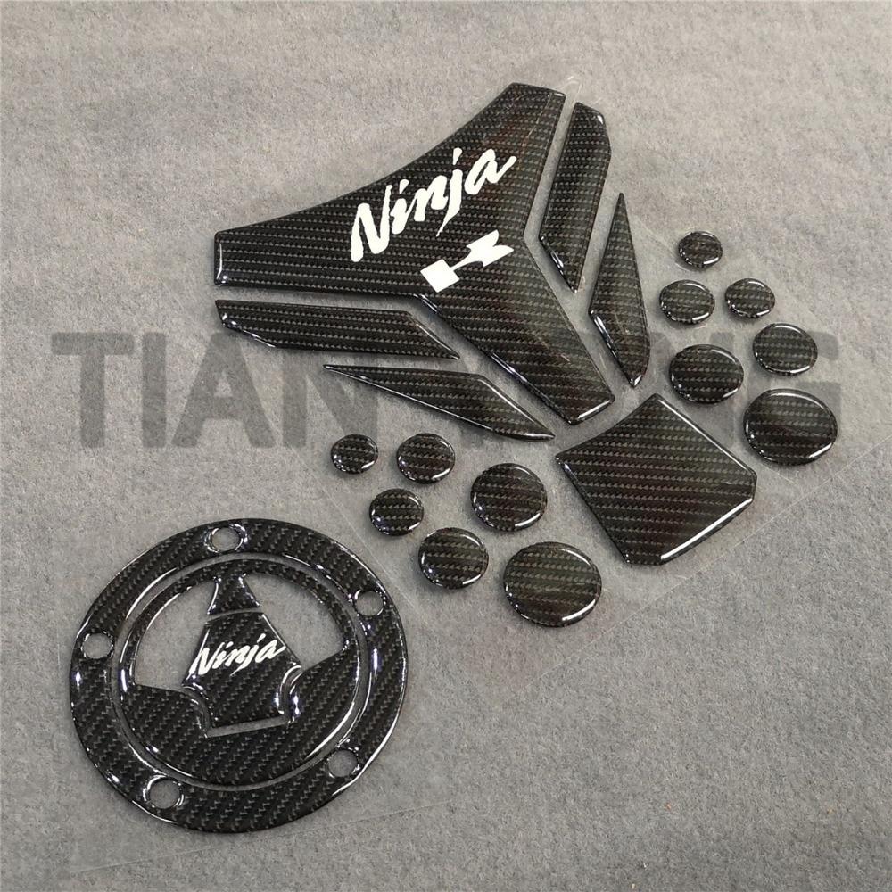 For Kawasaki Ninja 250 300 ZX6R ZX7R ZX10R 12R Fuel Gas Tank pad Decals Sticker