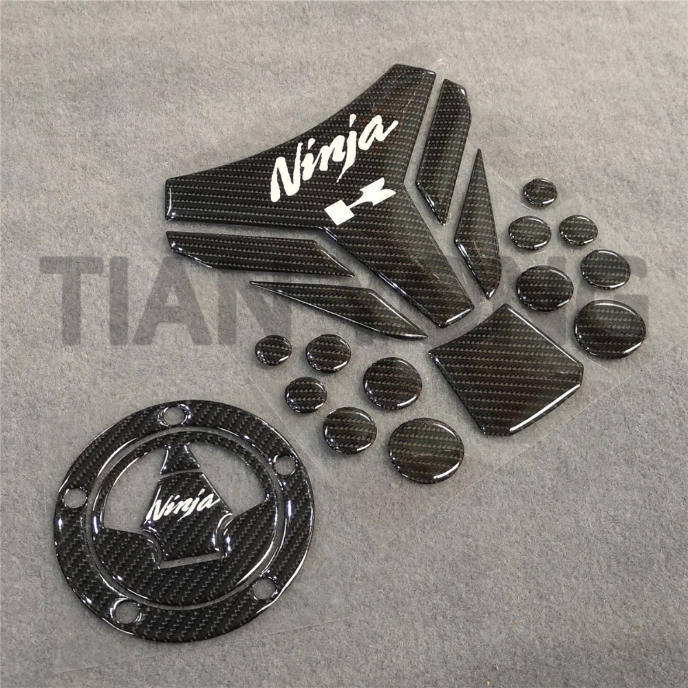 Motorcycle For Kawasaki Ninja Universal All Model Case Black Carbon Brazing Gel Fuel Oil Sticker Tank Pad Decorative Protector
