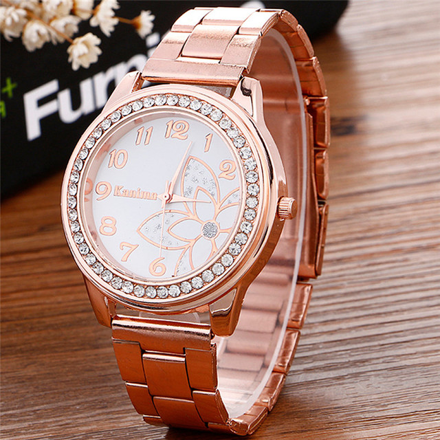 2018 Hot sale Luxury Diamond women Watch Stainless Steel Sport Quartz Wrist Hour Dial Watch relogio feminino Watches Silver gold 2
