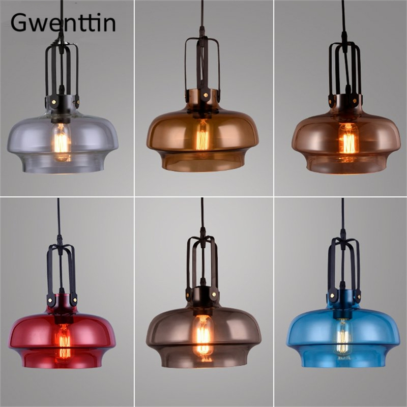 Nordic Stained Glass Pendant Lights Modern Hanglamp Led Hanging Lamp for Home Loft Industrial Decor Suspension Luminaire FixtureNordic Stained Glass Pendant Lights Modern Hanglamp Led Hanging Lamp for Home Loft Industrial Decor Suspension Luminaire Fixture