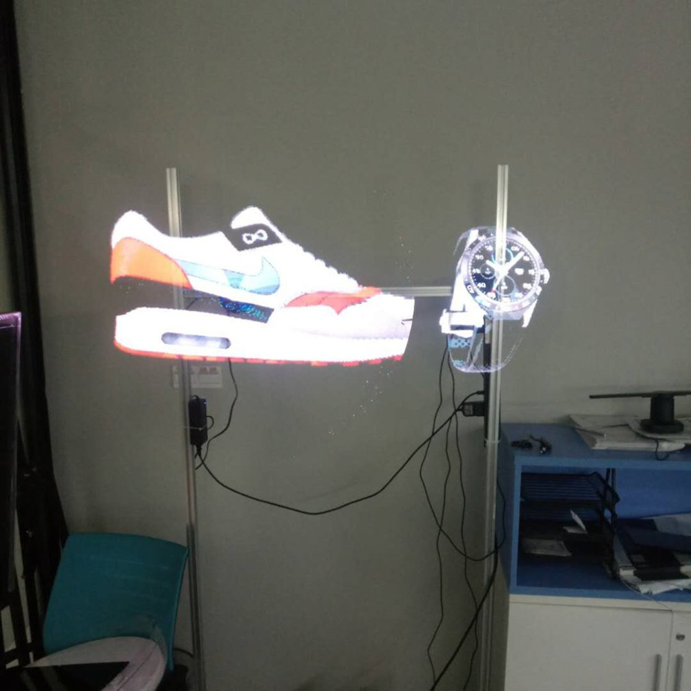 2018 New Professional LED 3D Holographic Projector Hologram Player Display Fan Player ad ...