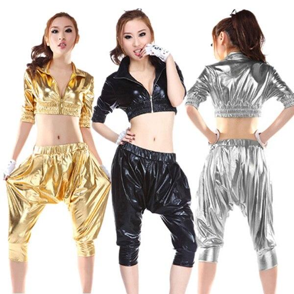 a45da171e40e8 Ventas calientes mujeres Haren ropa Hip Hop escenario de funcionamiento  moda ropa Cosplay noche prendas de