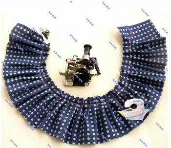 Industrial sewing machine parts for flat fold, crease pressure foot, needle needle four fold eight fold wrinkles device