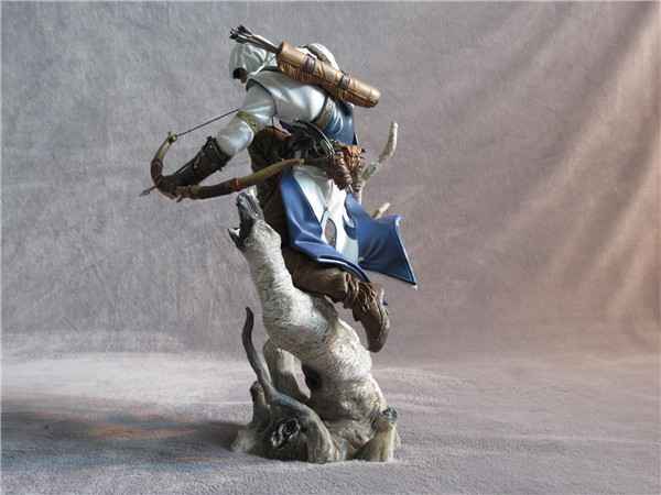 New Hot Assassins Assassin's Creed 3 Iii Connor The Hunter Figurine Classic Game Pvc Action Figure 10 25cm neca assassins creed 3 connor the hunter figurine classic game pvc action figures juguetes doll kids hot toys for children men
