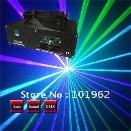 Общая масса DJ лазерного 40 МВт зеленый + 100 МВт Фиолетовый DJ Лазерная DMX световое оборудование