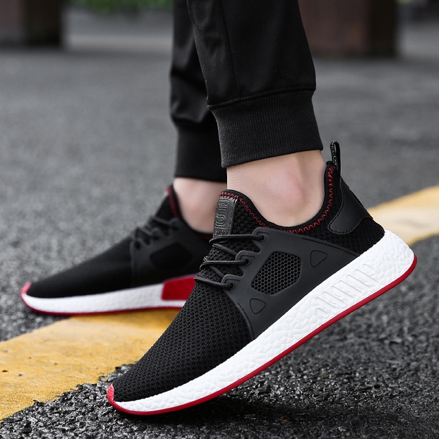 Red 2018 Hot Popular casual shoes Black men High Quality summer Fashion Comfortable Brand Breathable Male Shoes Gray sneakers