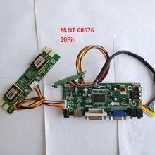 kit for M190EG01-V2 VGA DVI LVDS 4 lamps Controller board 30pin Screen Panel 1280X1024 19″ M.NT68676 DIY HDMI Driver