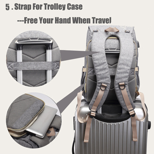 Image 3 - Diaper Bag USB Baby Nappy Bag Mummy Daddy Backpack Large Capacity Waterproof Casual Laptop Bag Rechargeable Holder for Bottle