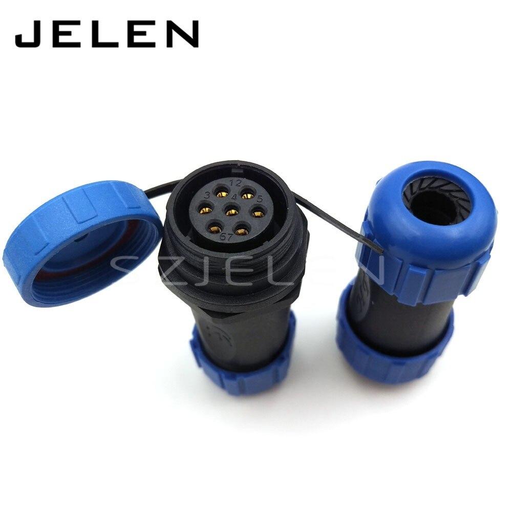 SP2110, 7pin kabel stecker, IP68, 7 pin stecker und steckdose, LED ...