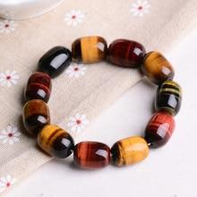 Wholesale JoursNeige Natural Tiger Eye Stone Bracelets Barrel Beads Multi Color Tiger Eye Stone Bracelets Jewelry