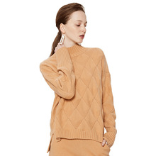 Solid color short cashmere sweater ladies warm 2018 autumn and winter new womens fashion female 3121