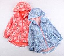 Весной и осенью девочка верхняя одежда ребенок ветрозащитный водонепроницаемый открытый куртки верхняя одежда ребенка средней длины траншеи верхняя одежда