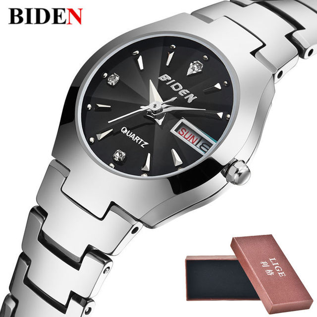 Fashion Biden Brand Luxury Tungsten Steel Waterproof Quartz  Ladies Wristwatch
