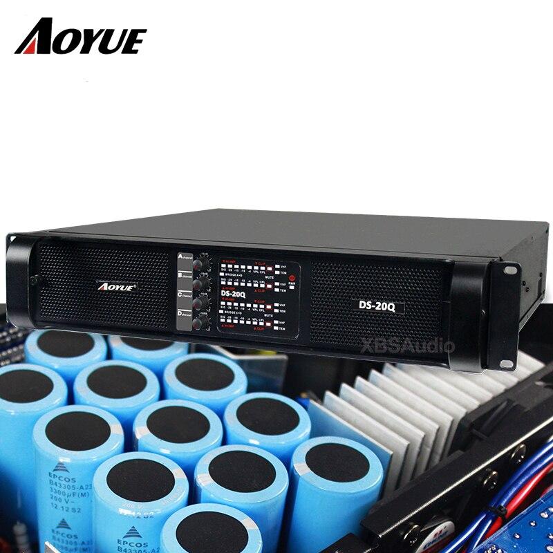 (Promoção de natal) 2018 mais novo de alta qualidade profissional amplificador de potência de 2200 W * 4 canais para subwoofer DS-20Q