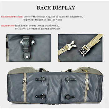 Local Lion 50L Outdoor Cycling Bicycles Bag Rear Trunk Luggage Bike Rear Seat Pannier Reflectivs Cycling Two Storage Bag unisex