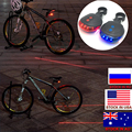 Dropshipping LED Bike Light Night Mountain 5 LED+ 2 Laser Tail Light MTB Safety Warning Bicycle Rear Light Lamp Bike Accessories