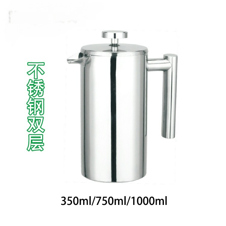 Coffee Pots Drinkware Kitchen,Dining & bar Home & Garden Stainless steel double French pressure pot French Press coffee pot 1L