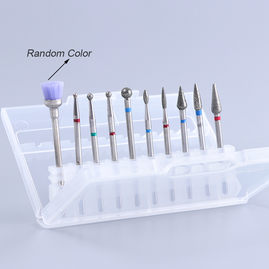 Ceramic Nail Bits Cuticle Cleaning Diamond Electric Polishing Nail Drill Bit Set Milling Cutter Files Pedicure Tools CHHZ01-04 (4)