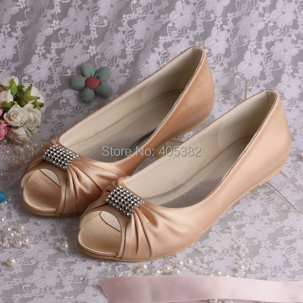 Wedopus Mw1361 Crystal Ballerina Flat Party Bridal Shoes Purple Satin Open Toes In Women S Flats From On Aliexpress Alibaba Group