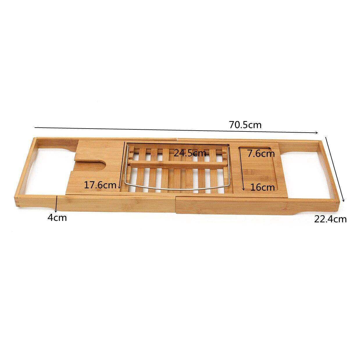 Luxury Bathroom Bamboo Bathtub Rack Support Bath Shelf Bath Tray ...