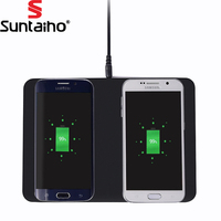 Suntaiho QI Wireless Dual Charger 5W 2PCS Wireless Charging Stand For IPhone 8 X Samsung Note8