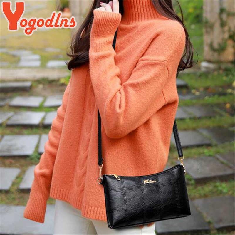 Yogodlns 2020 Mode Plaid Crossbody-tasche für Frauen Luxus Hohe Qualität Verbund Taschen PU Leder Dame Kleine Schulter Tasche Set