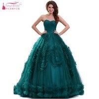 Abito di sfera Teal Verde Sweetheart Prom Dresses Tulle di Cristallo Impero Formal Dress Event Gown Cina Alibaba Economici Abito