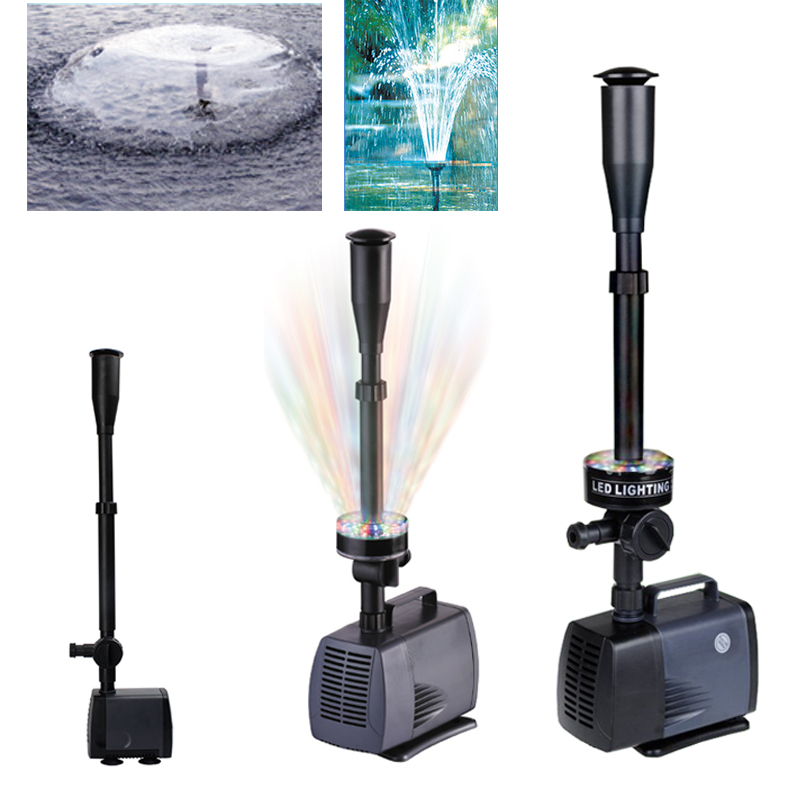 Changing LED Submersible Water Pump Fountain Pump Fountain Maker 40w-80W For Fish Pond Garden Pool