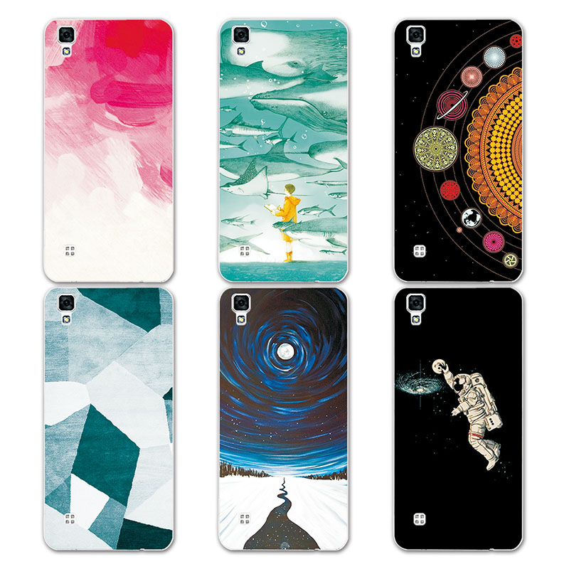 Couple Phone Case For LG X Power , 14 Patterns Universe Planets Astronauts Design Coque for LG X Power K220ds Soft Silicone Case