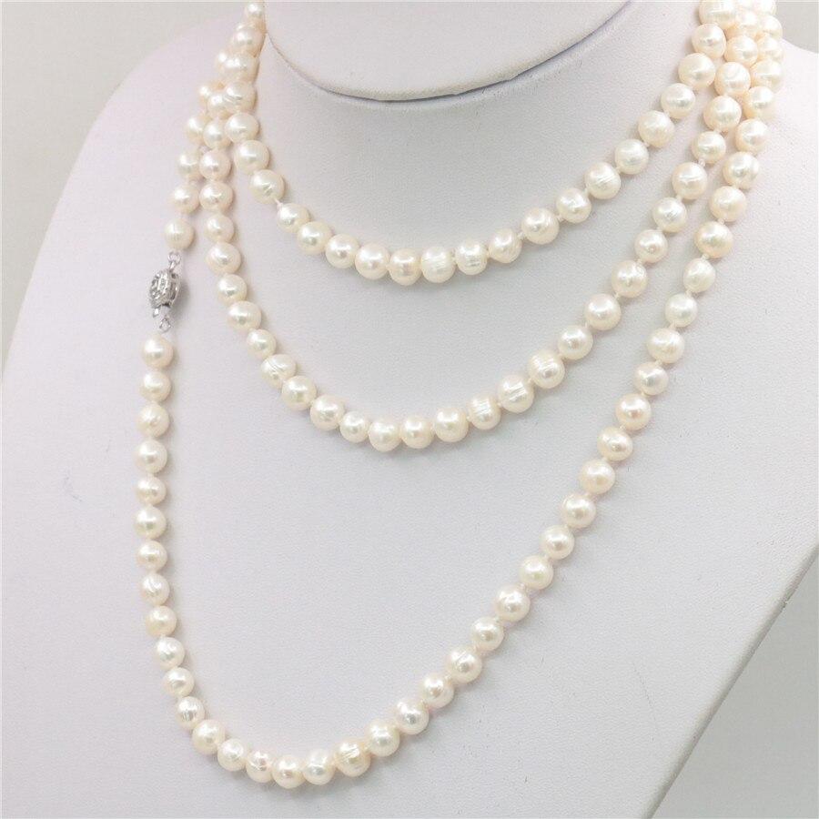 "Véritable 8 mm Blanc South Sea Akoya Shell collier de perles 18/"" AAA"