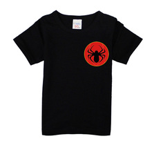 2017 Boys Girls Short Sleeve T Shirts For Children Fashion Spiderman Tops 10 Colors Kids Clothing Baby Boys Girls T Shirt