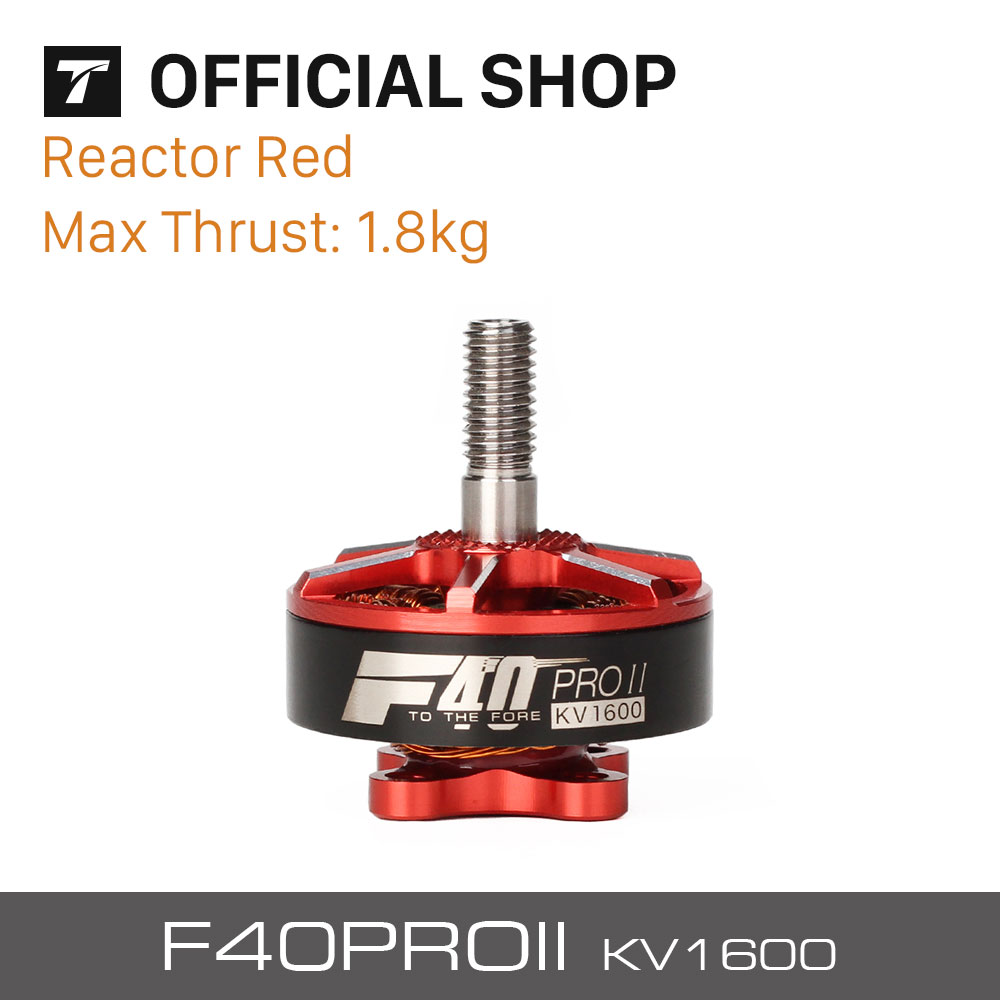 T-motor Newest F40 PRO II 1600KV Brushless Electrical Motor Reactor Red For FPV RC Drones Accessory 1 piece t motor f40 f60 pro motor 2400kv 2600kv 2200kv 2500kv motor fpv series 12n14p 2 4s for rc model aircraft