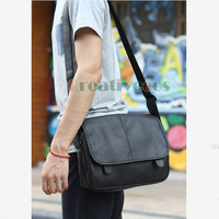 New Korean Men's Leather Travel Cross Body Messenger Shoulder Business Casual Fashion Briefcase Ipad Bag