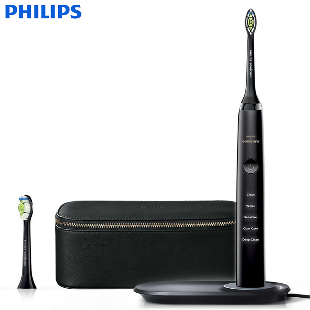 Philips DiamondClean Acoustic Wave HX9392 Electric Toothbrush Adult Wireless Cordless Speed 31000R/M Five brushing patterns