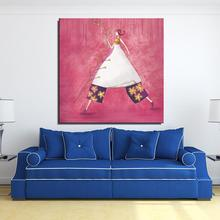 The fairy girl children Cartoon Modern Spray Unframed Canvas Frameless Oil Painting kitchen on the wall gift design drawing
