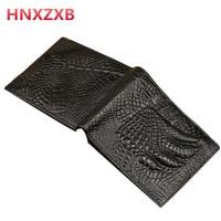 أعلى جودة جديد وصول hnxzxb standstone الرجال محافظ جلد طبيعي المحفظة الفاخرة الدولار الأسعار خمر الذكور حقيبة محفظة نقود