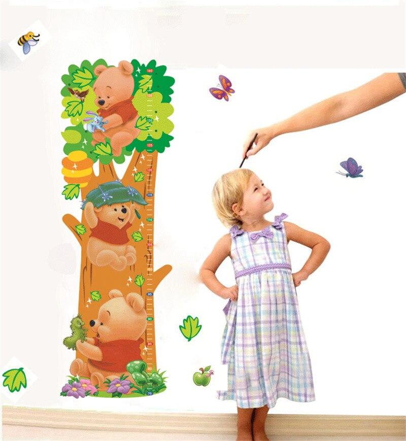 y diy de dibujos animados winnie the pooh animal medicin de altura pegatinas de pared del