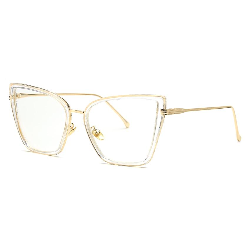 c4bc0f93cce01 Peekaboo 8 modelos transparentes claras vidros do olho de gato retro sexy  vintage da moda armações de óculos para as mulheres com caixa em Armações  de ...