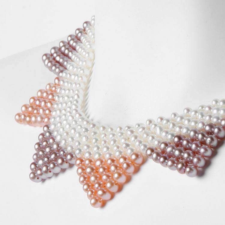 Freshwater pearl necklace and Korean pearl wholesale Dickie star with a high-end custom jewelry freshwater pearl brooch wholesale brass copper bronze with pearl bird plating with rhinestone more colors for choice