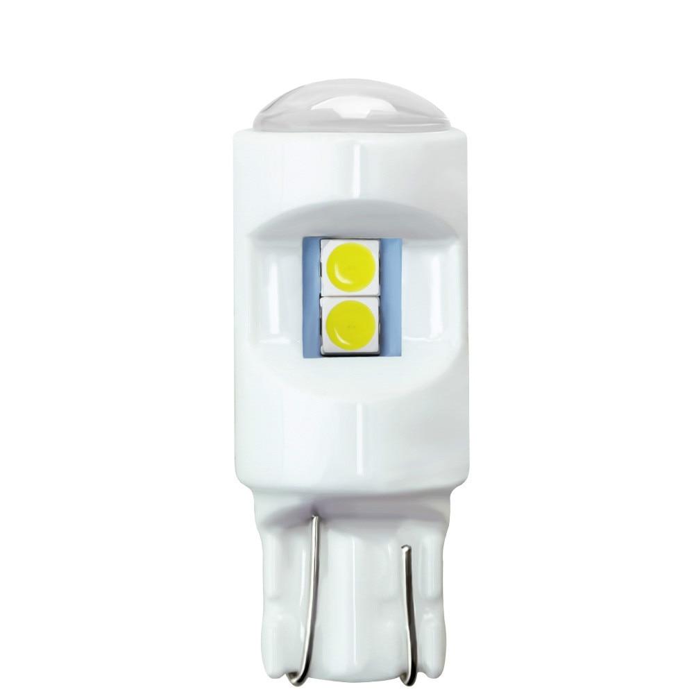 200x nouvelle céramique T10/W5W 3030 6SMD LED blanc bleu glace 12 V voiture auto moto dédouanement parking plaque d'immatriculation lumières ampoule