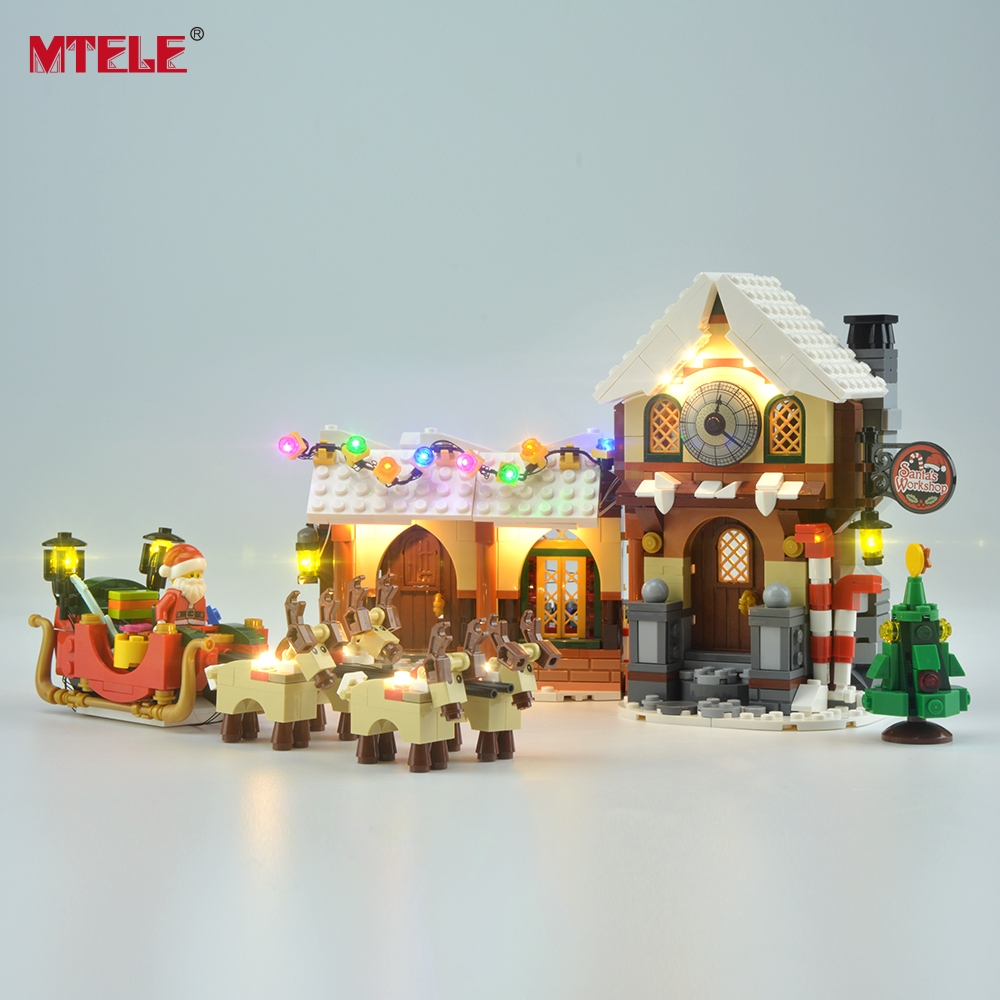 MTELE Brand LED Light Up Kit For Santa's Workshops Creator Series Lighting Set Compatible With 10245 (Not Include The Model)