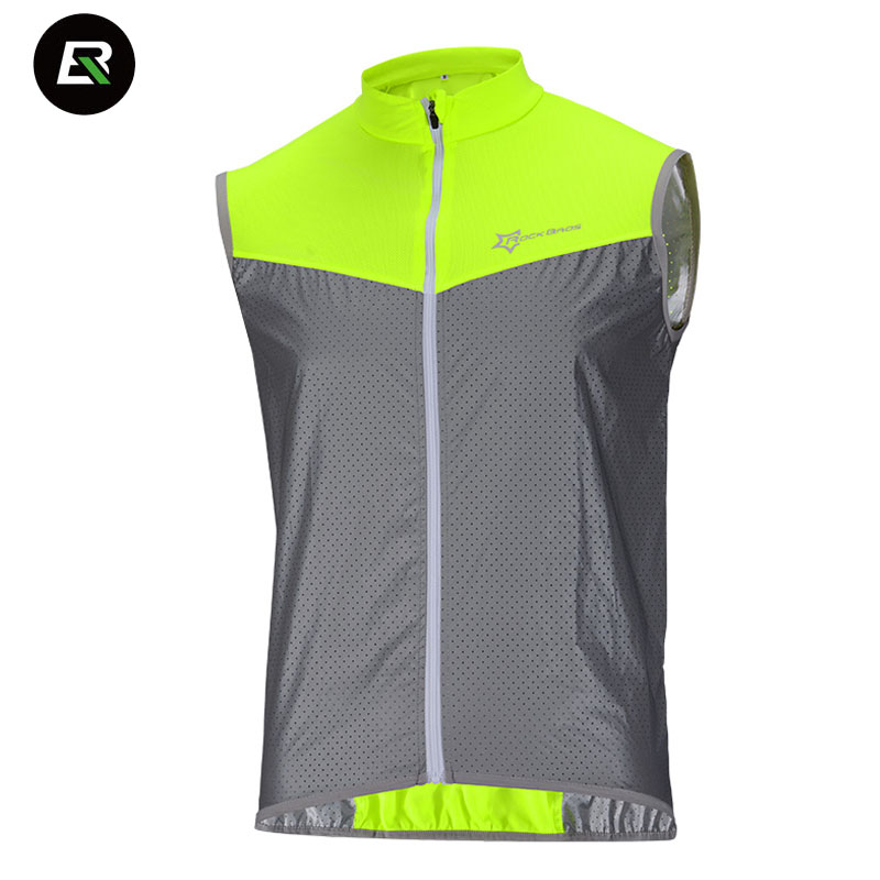 Rockbros Bicycle Jersey Road-Bike Reflective Maillot-Ciclismo Sleeveless MTB Windproof