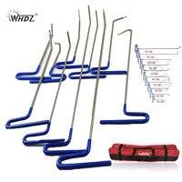 High Quality PDR Rods Hooks Tools 10pcs Repair Car Tool Paintless Dent Repair Steel Rods Hooks
