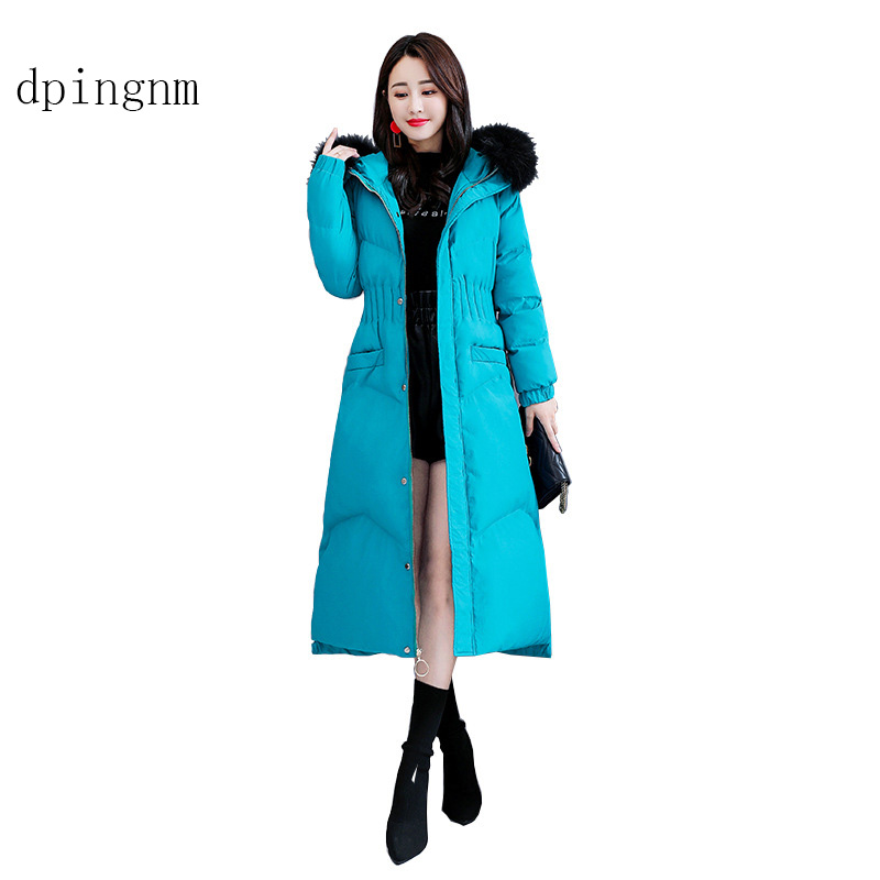 dpingnm 2018 new high quality women's winter jacket simple cuff design windproof warm female coats fashion brand   parka   GWD12665