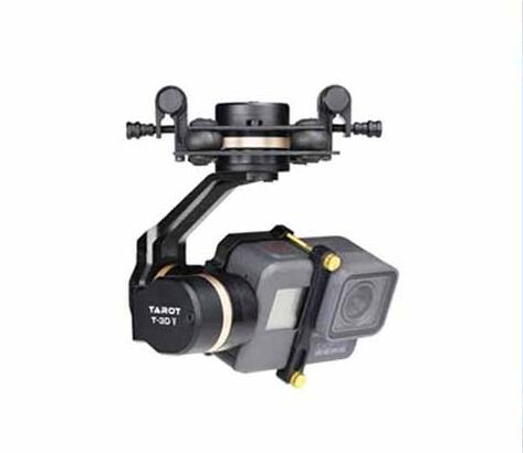 Tarot TL3T05 conception de cardan pour GOPRO HERO 5 caméra 3 axes cardan en métal