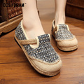 New 2017 Spring Women Flats Chinese Style Women Shoes Canvas Hemp Linen Plimsolls Casual Fashion Ladies Female Footwear SNE-165