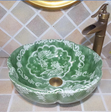 Jingdezhen Bathroom Ceramic Sink Wash Basin Porcelain Counter Top Wash  Basin Bathroom Sinks European Bathroom Sink