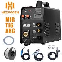 HZXVOGEN New Arrival Mig Welder MIG250 MIG TIG ARC Welding Machine Gas Gasless Welder 220V Mig Welding Machine 3 in 1